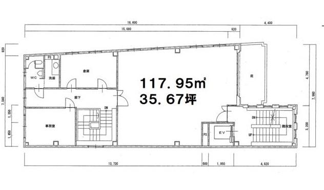 大津市 JR瀬田駅徒歩7分、学園通り沿い2F約35坪テナント