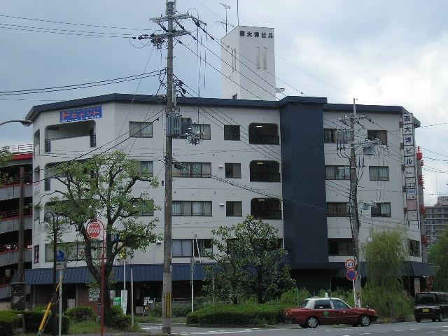 大津市 湖西線大津京駅前ロータリーに面す、4階約17坪店舗・事務所テナント ※スケルトン