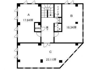 草津市JR草津駅徒歩10分、3階事務所テナント
