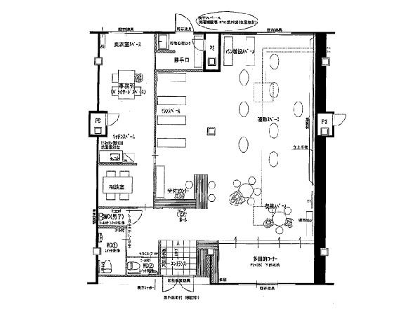 草津市 生活道路沿い1階約43坪店舗事務所テナント