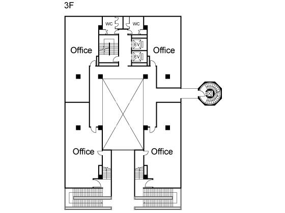 大津市西の庄 JR膳所駅徒歩12分 デザイナービル3階オフィステナント