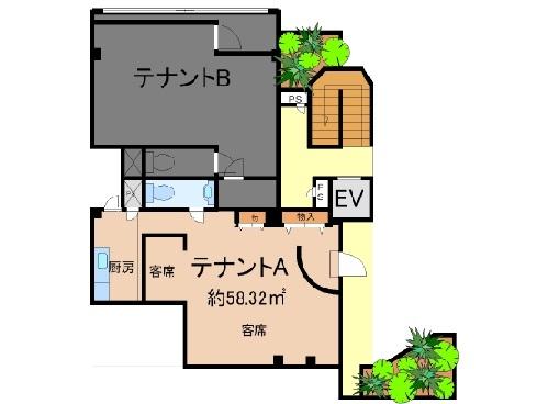 栗東市 飲食店ビル 1F約14坪スナックテナント