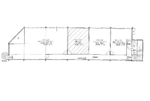守山市 幹線道路沿いビル、2F事務所に適す。敷地内駐車場確保可能。
