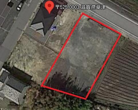 草津市 長束町エリア 約208坪 資材置場向き貸地