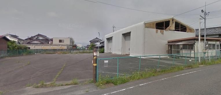 東近江市 蒲生I.Cまで約2.4Km 約308坪のテント倉庫骨組み付貸土地