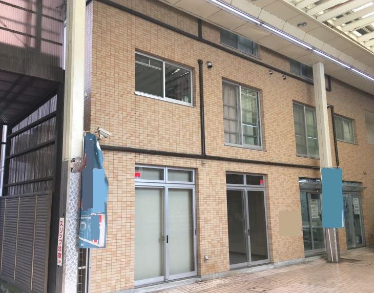 大津市 JR大津駅徒歩12分 商店街の中にあるテナントです。事務所や物販など業種応相談。