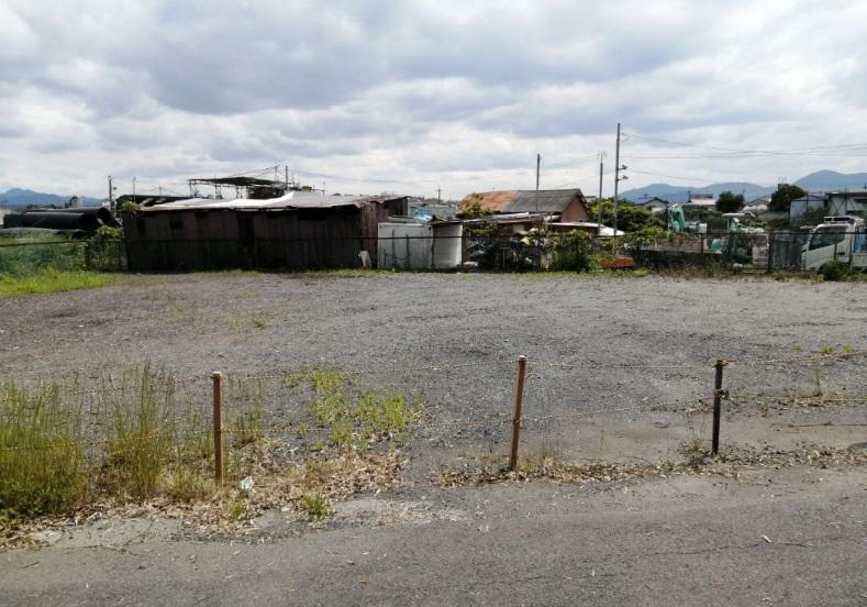 草津市 矢橋エリア 取付道路近くの約90坪借地 資材置き場にオススメ♪