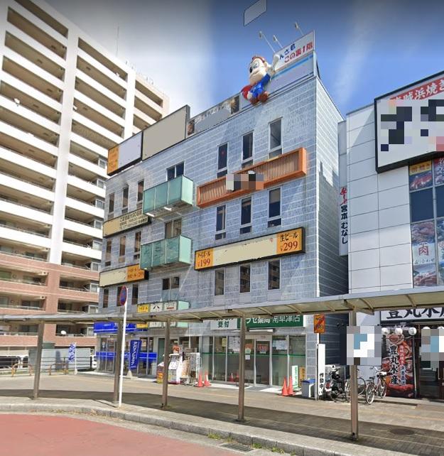 草津市 JR南草津駅徒歩1分 ロータリー内にある4階約62坪飲食店跡テナント