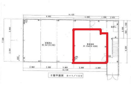 守山市 JR守山駅徒歩5分2F約9坪テナント