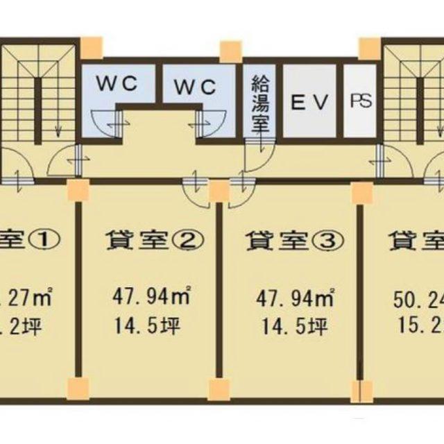 大津市 JR膳所駅徒歩15分 6F約14坪事務所テナント