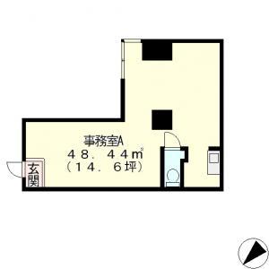 大津市 JR大津駅徒歩5分、1階事務所向けテナント!