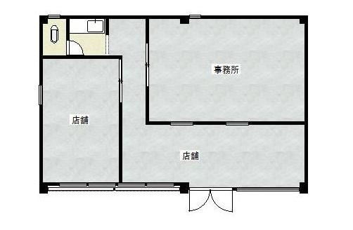 近江八幡市 JR近江八幡駅徒歩約7分 1階約19坪テナント