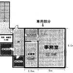 甲賀市 約14坪2F事務所テナント