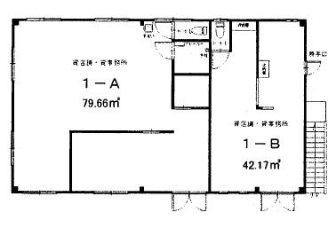 近江八幡市 近江八幡駅徒歩5分 1F約24坪テナント店舗、事務所、教室に適す。