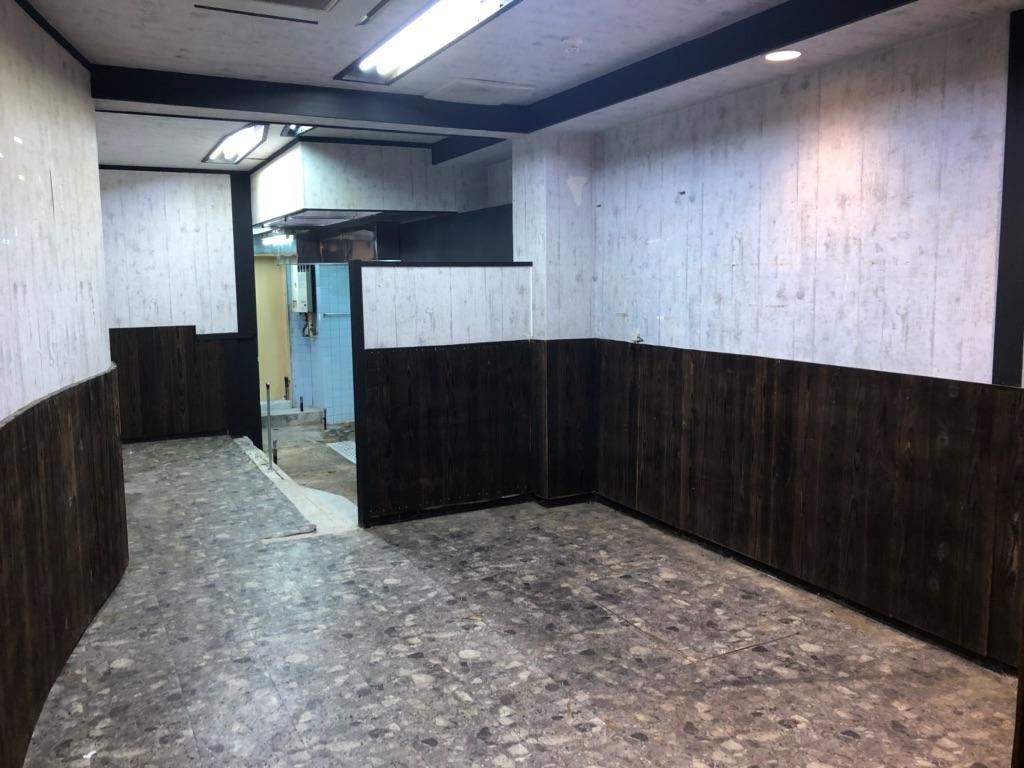 大津市 京阪びわ湖浜大津駅徒歩4分、鉄板・居酒屋向き飲食ビル1階テナント