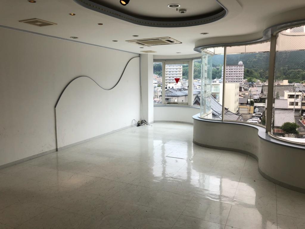 大津市 京阪びわ湖浜大津駅徒歩4分、ナイト系向き飲食ビル最上階5階テナント