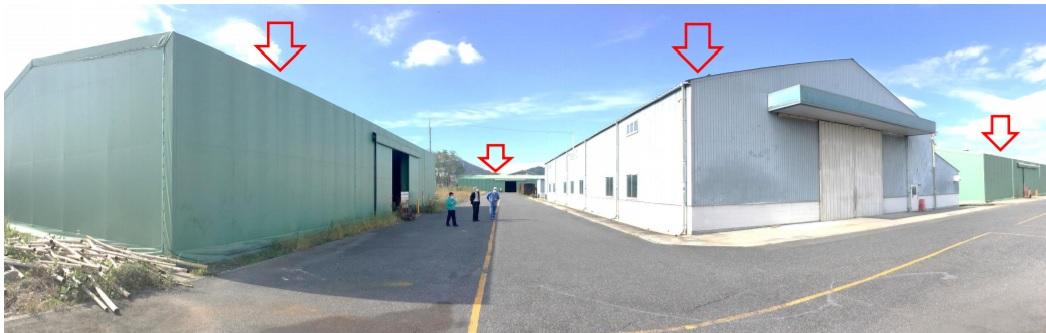 東近江市 八日市インターより6キロ 約711坪貸工場・倉庫