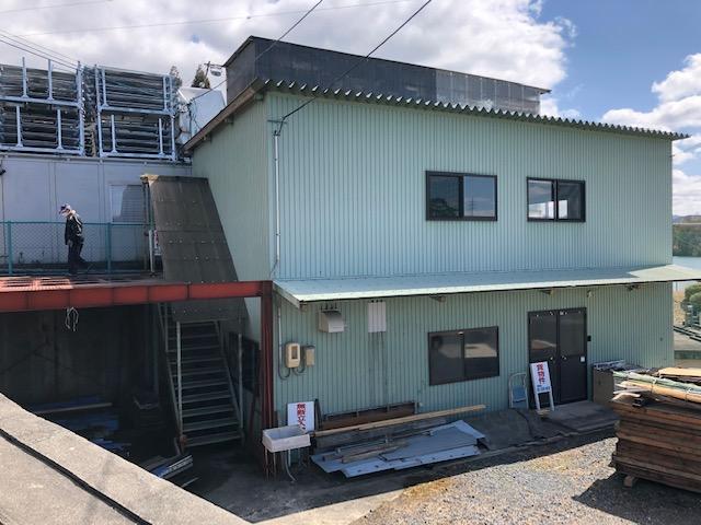 草津市追分 2階建倉庫 資材置き場や物置におすすめです。